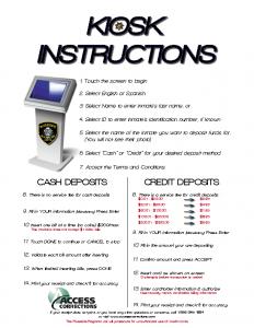 Kiosk Instructions