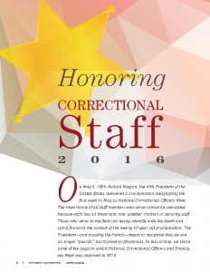 Honoring Correctional Staff