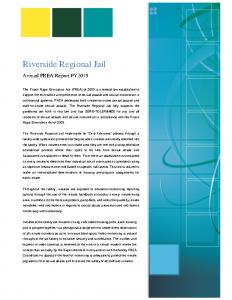 FY 2019 PREA Annual Report